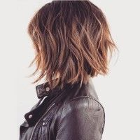 Shaggy bob hairstyle for winter