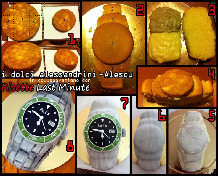 Watch cake tutorial  (Okkk- Maybe he WILL get a Rolex for his B-day..lmao)