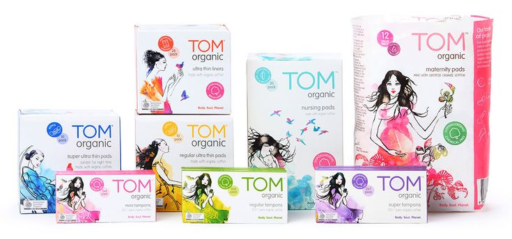 TOM Organic Pads & Tampons: our products