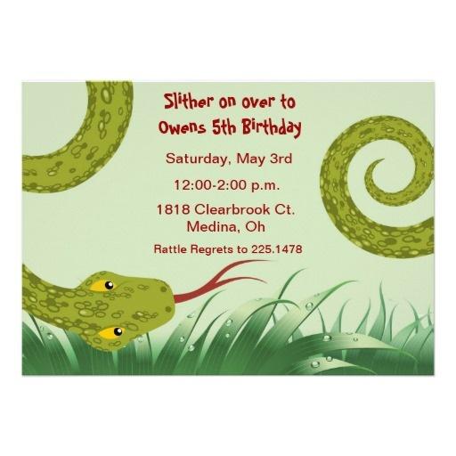 snake birthday party invite - Google Search