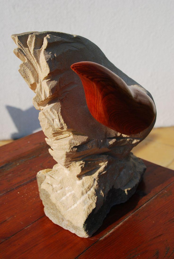 birrrr, by  Grzegorz Nadolski, stone, wood
