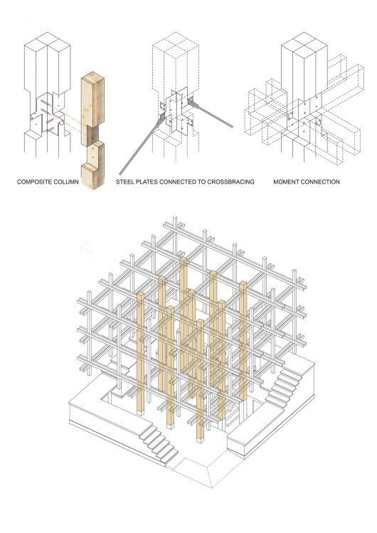 Architects: College of Environmental Design UC Berkeley, Kengo Kuma & Associates Diagram 7