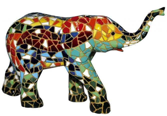 gedetaileerd: saaie olifant