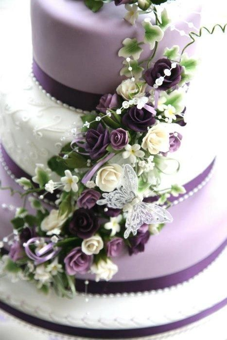 Pretty+Purple+Wedding+Cake