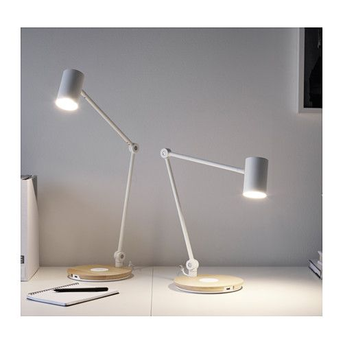 RIGGAD LED work lamp w/wireless charging  - IKEA