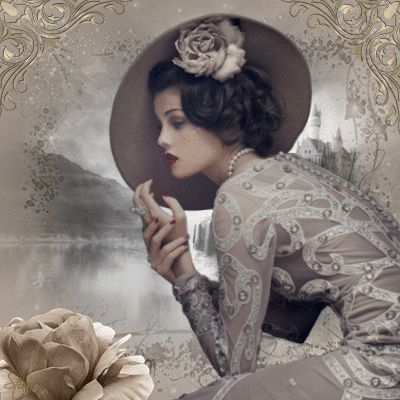 """Vintage Elegance """"Elegance is the only beauty that never fades."""" ~Audrey Hepburn ...Blingee created by stina scott"""