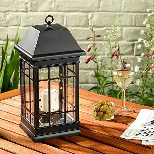 Solar Hanging LED Lantern Light Lamp Outdoor Garden Lamp Black Pathway Yard Deck #SmartSolar