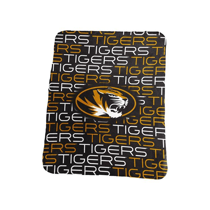 Logo Brand Missouri Tigers Classic Fleece Blanket, Black