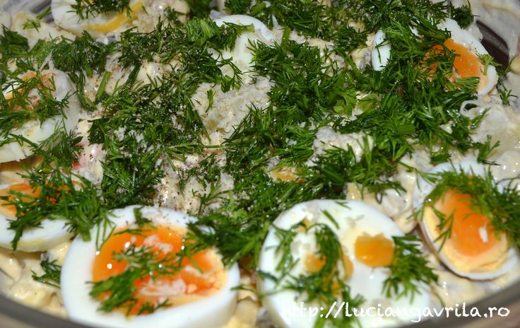 Salată vieneză cu hering marinat