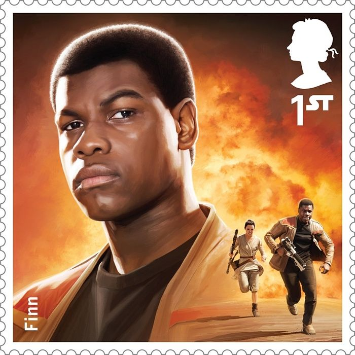 A Royal Mail stamp featuring Finn