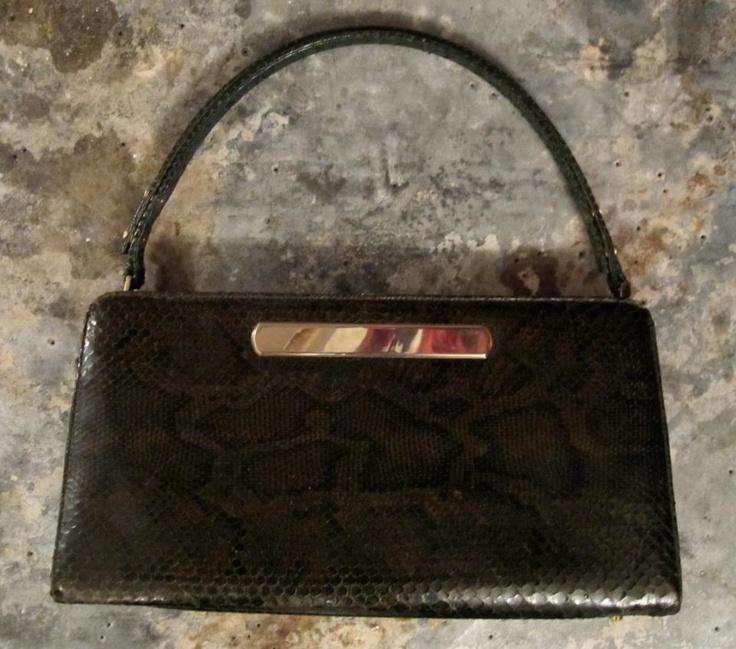 Vintage snake skin bag available in Beware of Limbo Dancers  Dkk 699,-