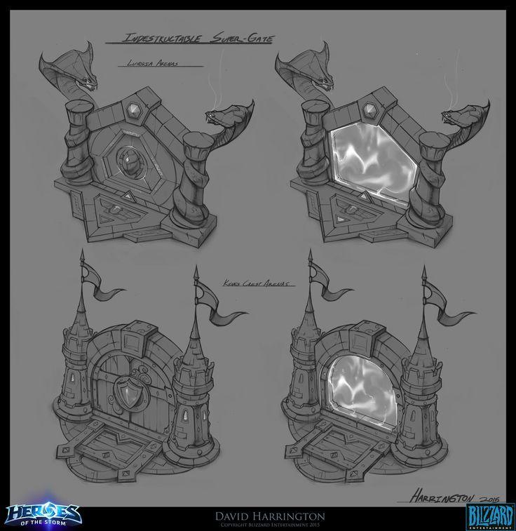 Heroes Of The Storm - Gate Concept Art, David Harrington on ArtStation at https://www.artstation.com/artwork/JD1aR