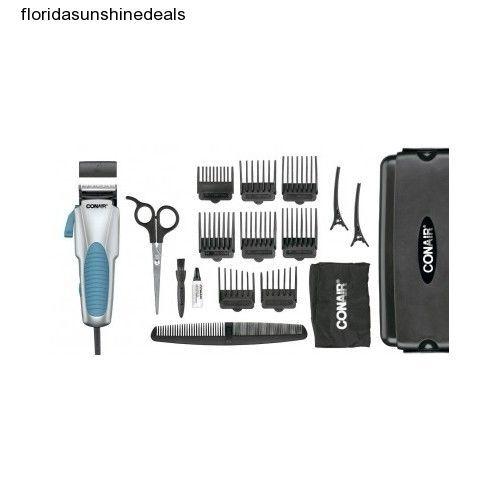 Hair Clippers Beard Trimmer Kit Haircut Cut Scissors Comb Cape Barber Set Conair #Conair
