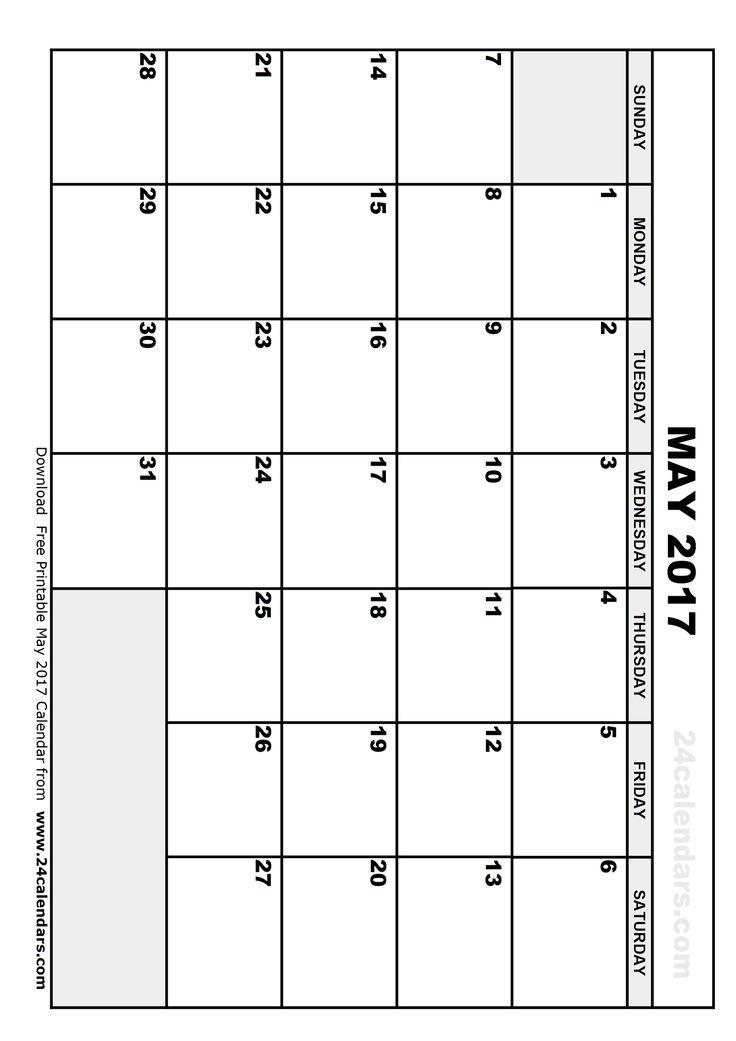 Best 25+ May 2017 calendar ideas on Pinterest | Calendar may, 2016 ...