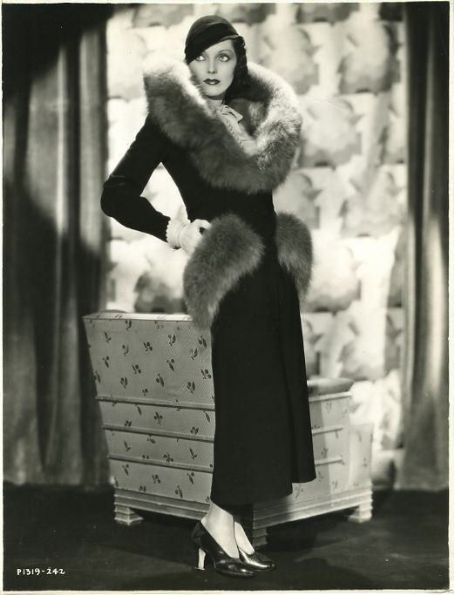Adrienne Ames and fur
