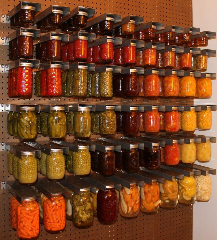 Summer harvest preserved in jars mason jar storage for Mason jar holder ideas