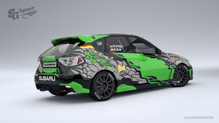 SG Sport Rally Team - R. Pritzl (Subaru Impreza) - design and wrap.
