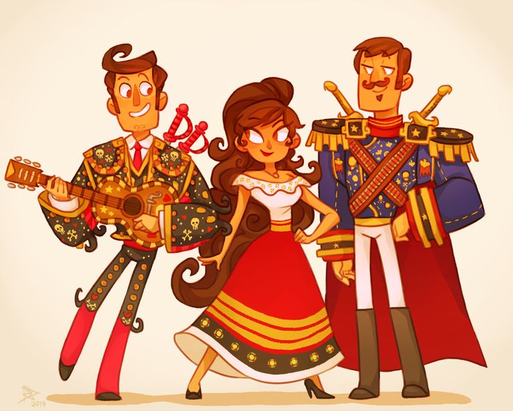 The book of life characters manolo and marias kids