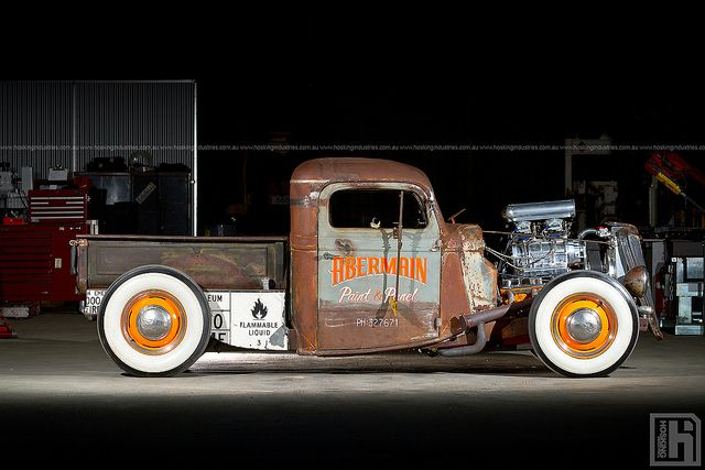 Sweet 1935 Ford Pickup from Down Under, with 6/71-blown 327 Chevy power