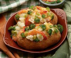 Idaho Potato Commission - Recipes: Broccoli-Shrimp Stuffed Idaho® Potatoes