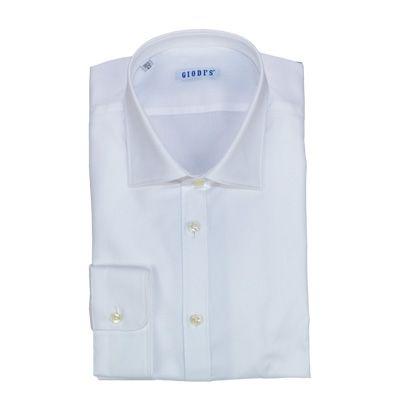 Shirts - GIODI'S - Camicia da cerimonia in cotone con righe diagonali in rilievo, vestibilità SLIM - Bianco. €29,00. #hallofbrands #hob #camicia #shirt