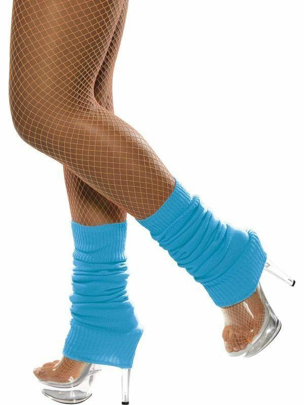 Neon Striped Leg Warmers 1980s Fancy Dress Accessory 80s Dicso