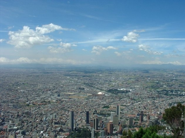 Bogota panoramic view from Monserrate