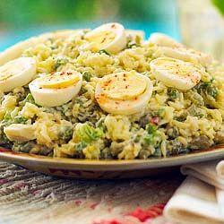 How to make Ensalada de Arroz Frio - Cold Rice Salad - Simple, Easy-to-Make Cuban, Spanish, and Latin American Recipes with Photos