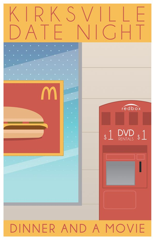 Kirksville Tourism Posters by William Frazier, via Behance.  Truman Alum, check this out - it's so spot on!  :)