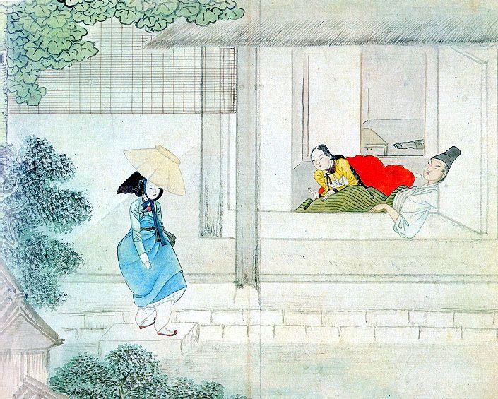 혜원(惠園) 신윤복(申潤福) 作 - 기방무사