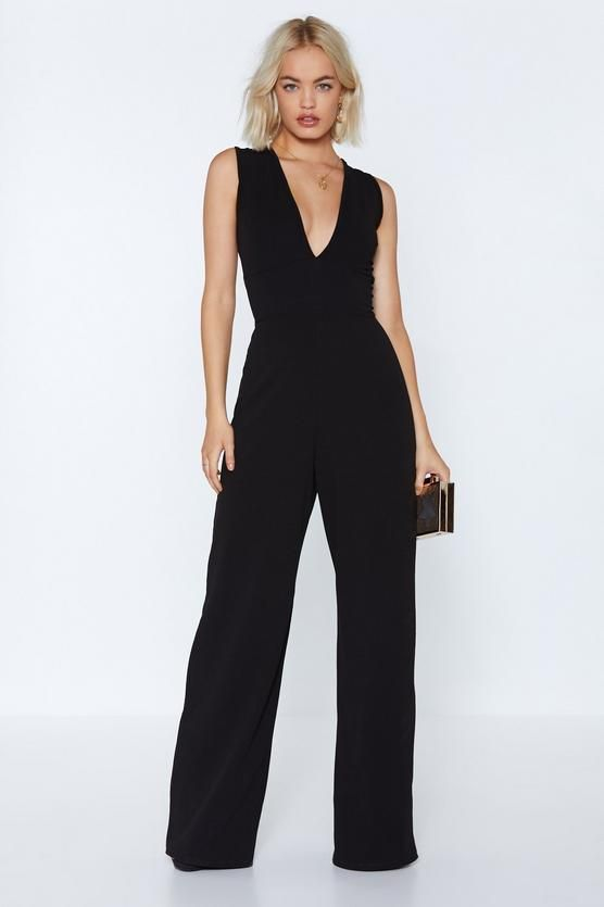 Deep In Touch Plunging Jumpsuit Going Out Pinterest Jumpsuit