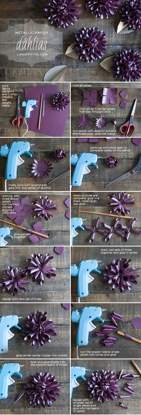 Make a Paper Dahlia for Fall