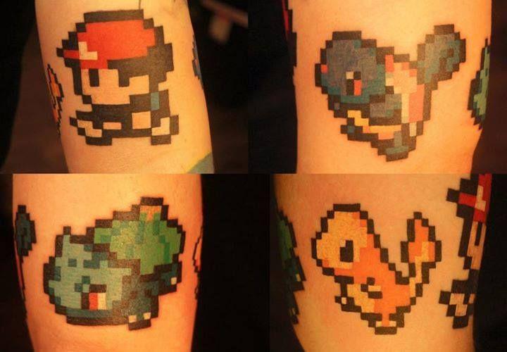 Chronic Ink Tattoo, Toronto Tattoo - some cuties Pokemons pixel tattoos done by…