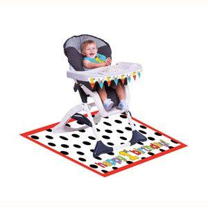 57 - Barnyard Bash Highchair Kit Barnyard Bash High Chair Kit, Contains 1 Mini Plastic Flag Banner (78.74cm Long), 1 x Plastic Floor Mat (121.92cm x 76.2cm) and 1 x Plastic Bib - Each