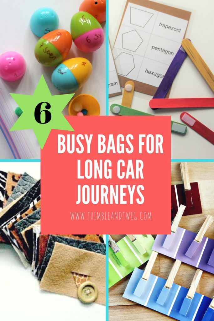 5 Amazing Ideas for Busy Bags: Lots of free fun printables! looking for ideas for busy bsgs for travelling and long car journeys