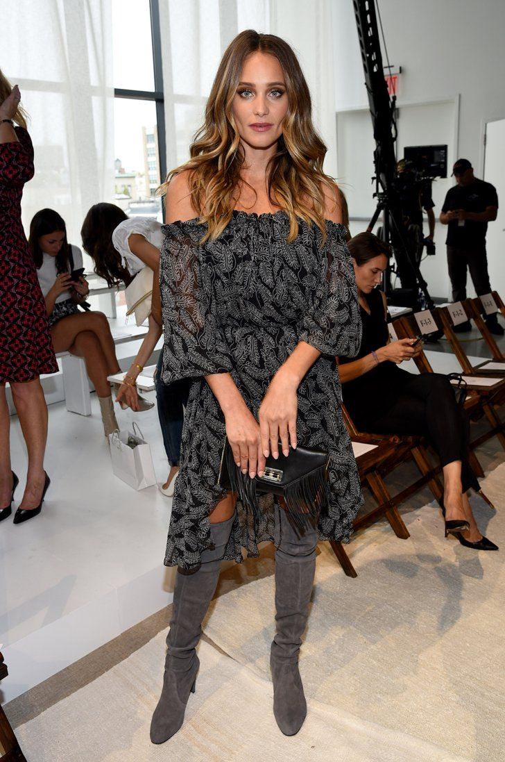 Pin for Later: NYFW's Front Row Is Looking Extremely Fierce Hannah Davis