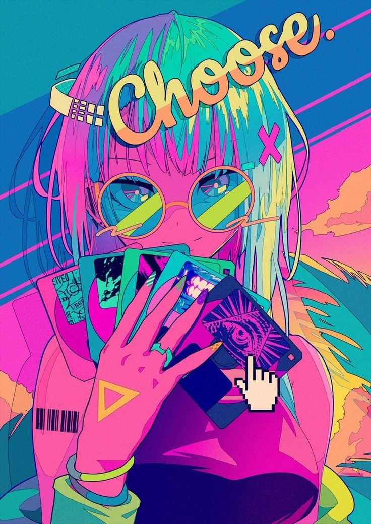 Ilustrasi Bergaya Retrowave Kawaii Karya BerryVerrine Yang