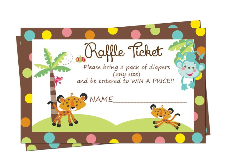 Best 12 rainforest jungle baby shower invitations and party supplies fisher price baby shower diaper raffle tickets 399 filmwisefo