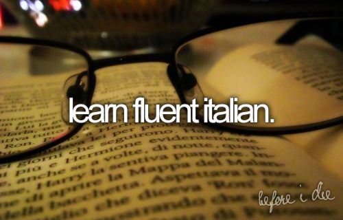 fluent Italian.