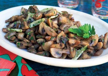 Garlicky Mushrooms
