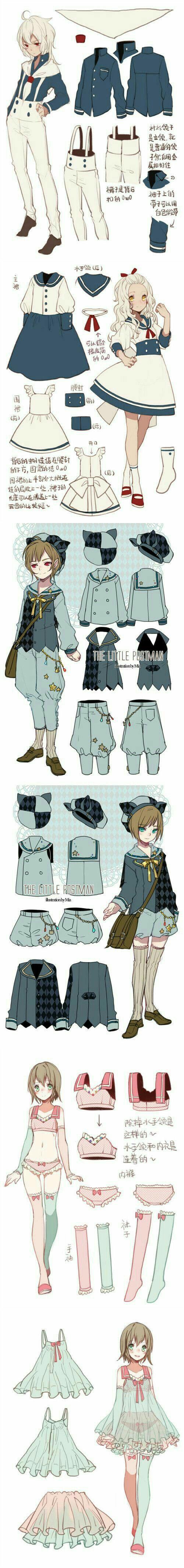 Cute anime style