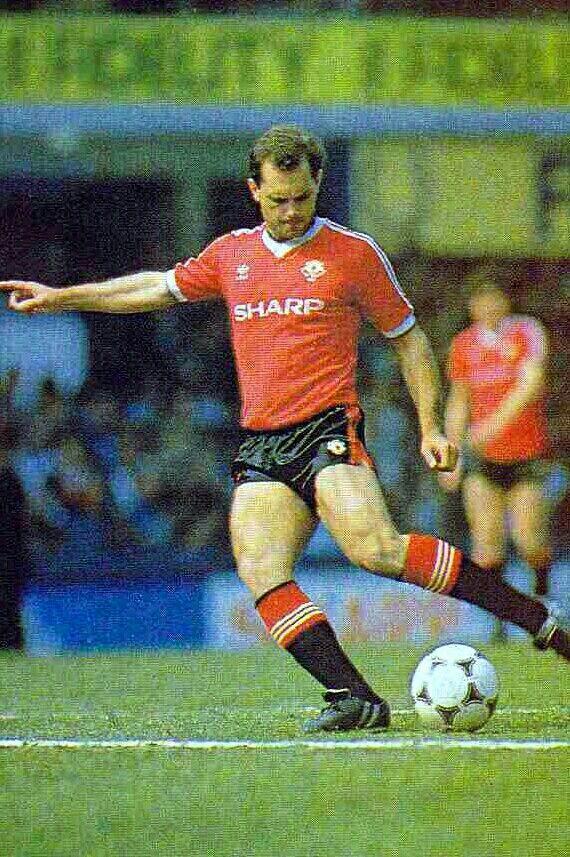 Ray Wilkins of Man Utd in 1982.