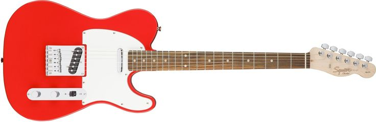 "Squier by Fender Affinity Teleocateer Beginner Electric Guitar - Rosewood Fingerboard, Race Red. Squier's Affinity Series provides the best value in instrument design available today, and is the perfect choice for the aspiring musician. Two Single-Coil Telecaster pickups envoke the iconic tone of the original solid-body electric guitar. The Top-load Telecaster bridge makes changing strings a breeze & provides optimal tuning stability. The modern ""C"" shaped neck provides universal comfort…"