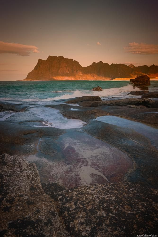 Utakleiv in Lofoten Norway by Hallgeir Nielsen