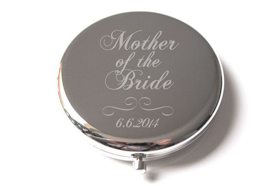 Mother of the Bride Wedding Compact Mirror - Bride, bridesmaid, mother of the bride, flower girl gift idea on Etsy, $25.00