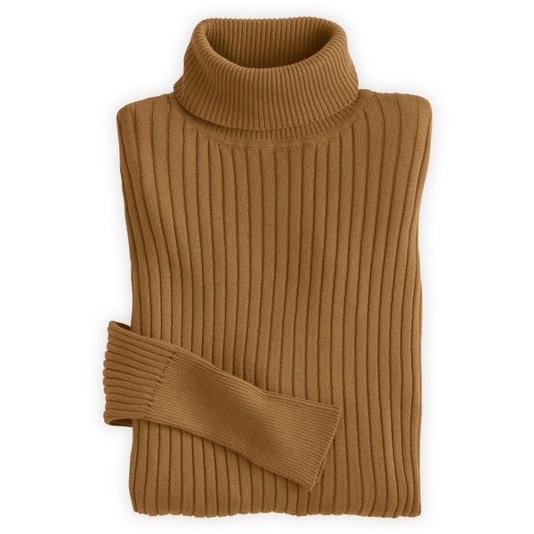 Fair Indigo Fair Trade Organic Ribbed Turtleneck Sweater (945.260 IDR) ❤ liked on Polyvore featuring tops, sweaters, turtle neck top, ribbed sweater, ribbed turtleneck top, turtleneck pullover and brown sweater