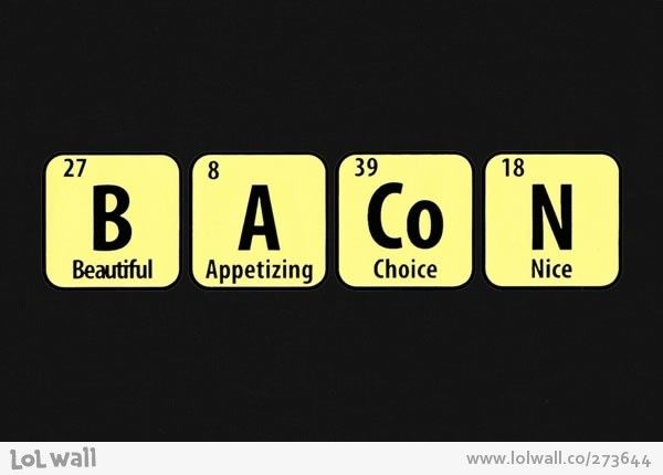 bacon periodic table of the elements - Periodic Table Autistic