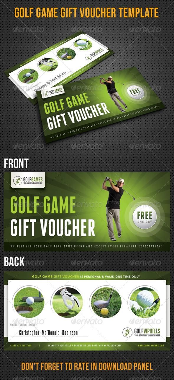 Golf Game Gift Voucher V13 #template #cards #print #invites