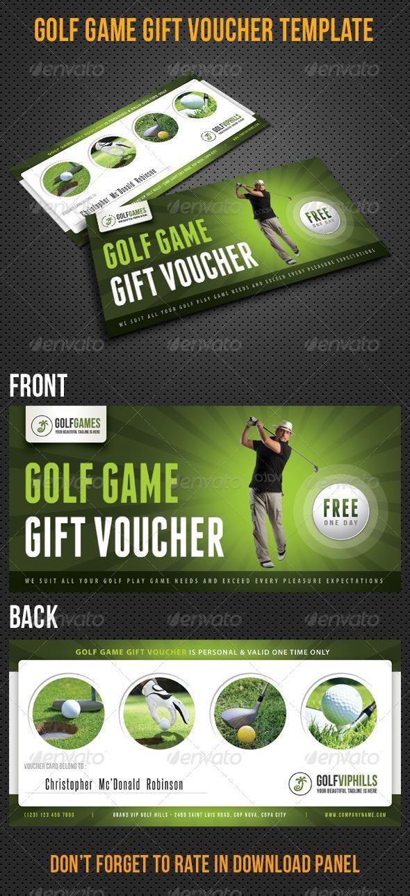Golf Game Gift Voucher V13 #template #cards #print #invites