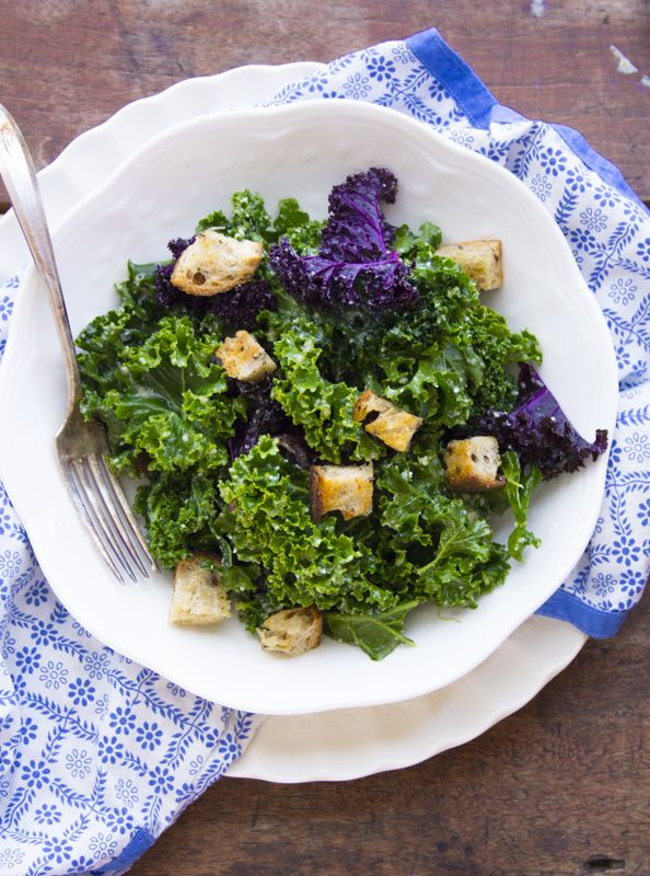 Overnight Kale Caesar Recipe   I thought kale chips were my favorite way to enjoy kale until I met this Caesar salad. Healthy Seasonal Recipes   @Katie Schmeltzer Webster